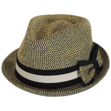 Joanne Toyo Straw Trilby Fedora Hat alternate view 5