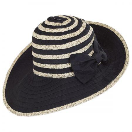 Betmar Donna Ribbon and Straw Sun Hat