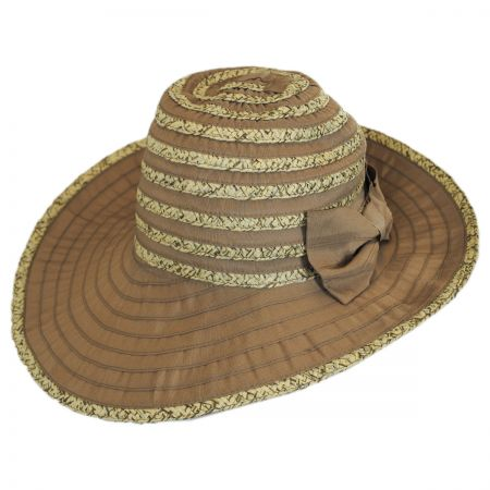 Betmar Donna Ribbon and Straw Sun Hat