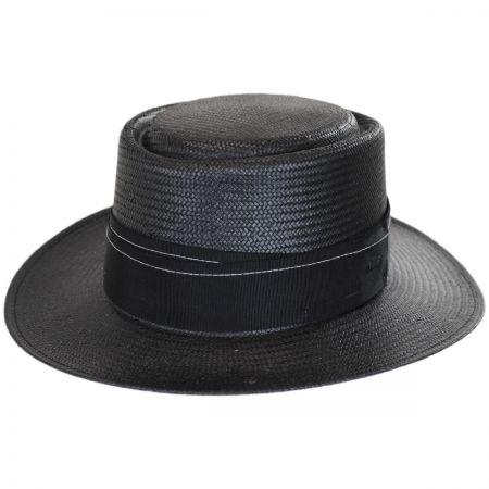 Bailey Winger Toyo Straw Wide Brim Pork Pie Hat