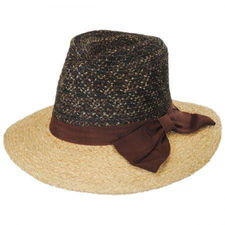 Brooklyn Hat Co Calabria Raffia Straw Blend Fedora Hat