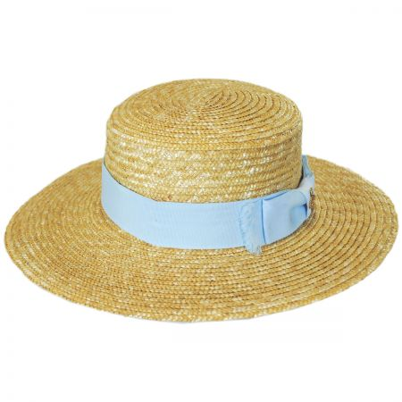 Brooklyn Hat Co Hokkaido Wheat Straw Boater Hat