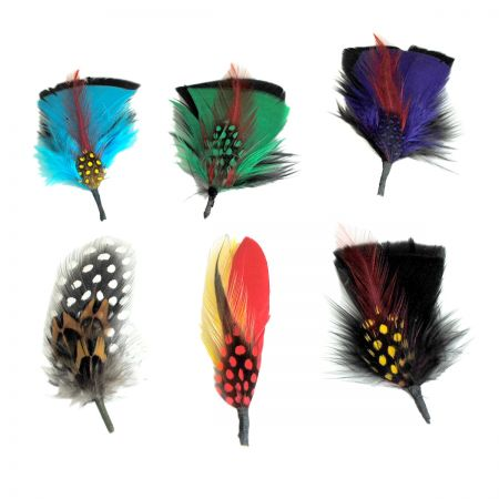 Capas Headwear Fashion Side Feather 6-Pack