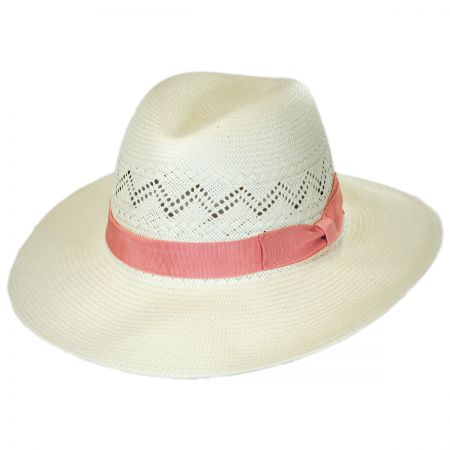 Bel Air Shantung Straw Fedora Hat