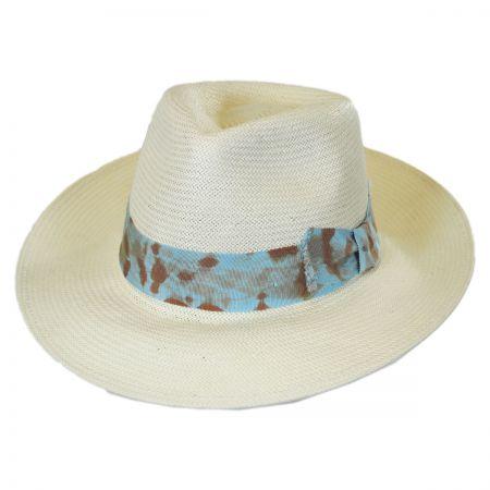 Brooklyn Hat Co Punta Cana Shantung Straw Fedora Hat