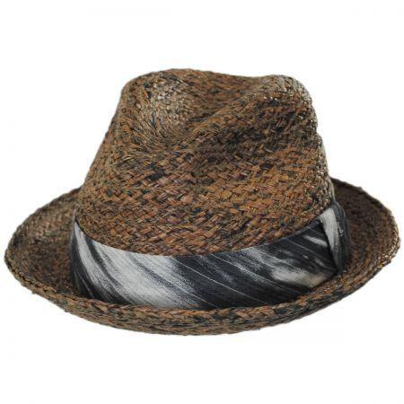 Brooklyn Hat Co Greenwich Raffia Straw Fedora Hat