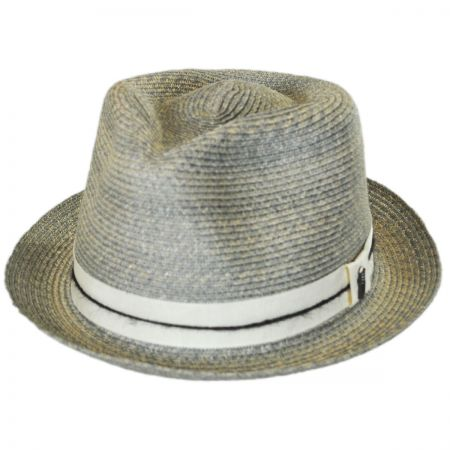 Brooklyn Hat Co Ocean City Hemp Straw Fedora Hat