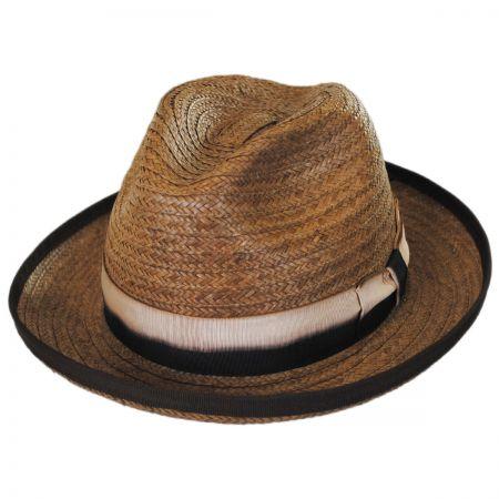 Brooklyn Hat Co Coconut Grove Raffia Straw Fedora Hat