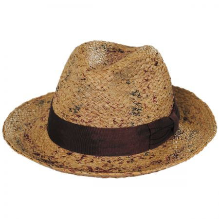 The Rye Raffia Straw Fedora Hat alternate view 1