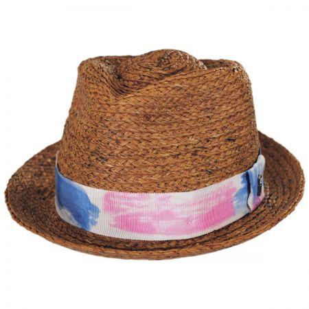 Brooklyn Hat Co Gulf Shores Raffia Straw Fedora Hat