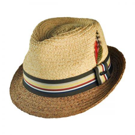 Jaxon Hats Trinidad II Raffia Straw Trilby Fedora Hat