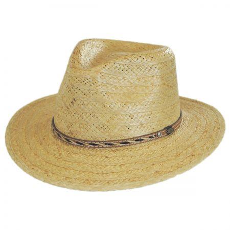 Scala Ensenada Raffia Straw Safari Fedora Hat