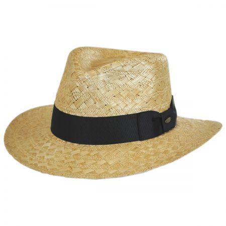 Scala Sisal Straw Safari Fedora Hat