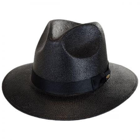 Scala Toyo Straw Safari Fedora Hat