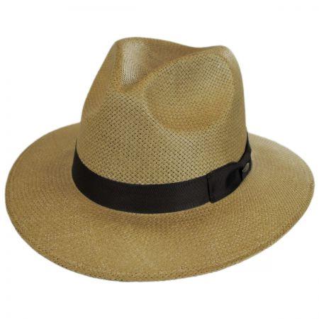 Toyo Straw Safari Fedora Hat alternate view 1