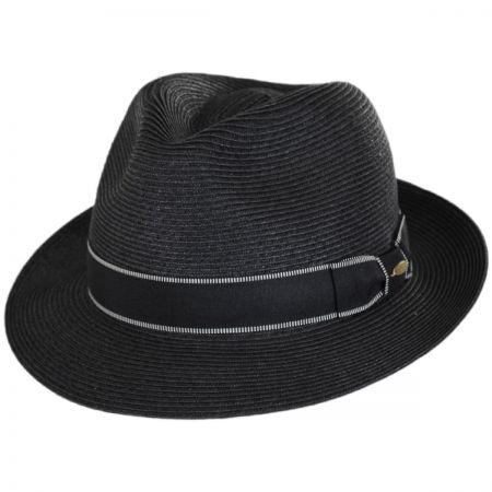 Scala Tulum Toyo Straw Trilby Fedora Hat