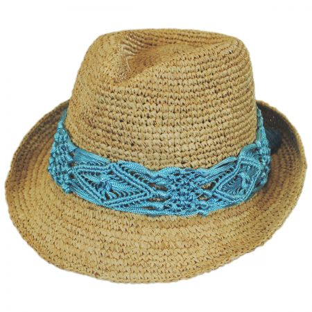 Malia Raffia Straw Fedora Hat alternate view 2