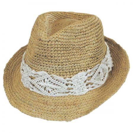 Malia Raffia Straw Fedora Hat alternate view 12
