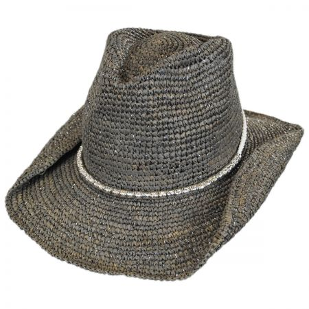 Sierra Raffia Straw Western Hat alternate view 1