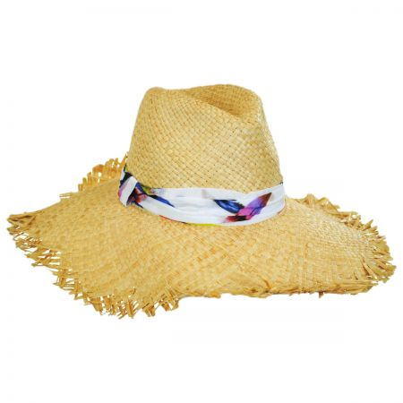 Lulu Raffia Straw Fedora Hat alternate view 1