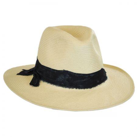 Luca Toyo Straw Fedora Hat alternate view 6