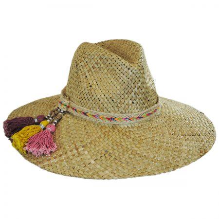 ale by Alessandra Margarita Straw Wide Brim Fedora Hat