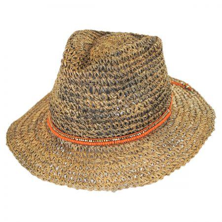 Trancoso Seagrass Straw Fedora Hat alternate view 1