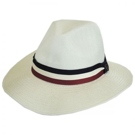 Dorfman Pacific Company Red, White and Blue Band Mesh Fedora Hat