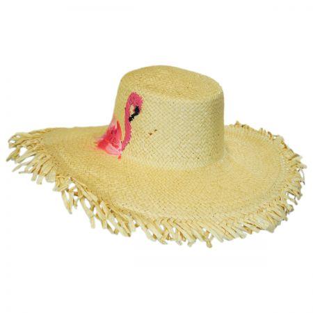 San Diego Hat Company Flamingo Toyo Straw Floppy Hat