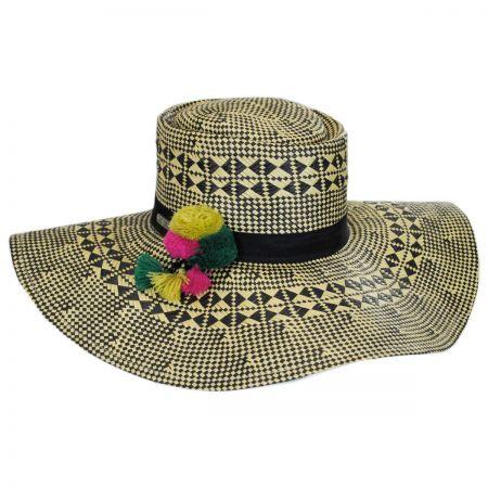 San Diego Hat Company Boater Pom Pom Hat