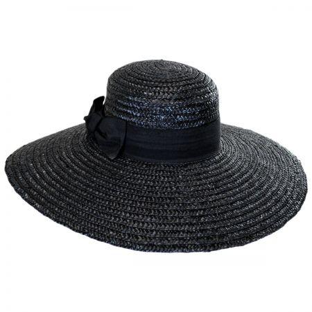 Wide Brim Straw Boater Hat alternate view 1
