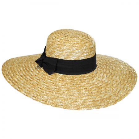 San Diego Hat Company Wide Brim Straw Boater Hat