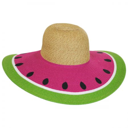 Watermelon Toyo Straw Sun Hat alternate view 1