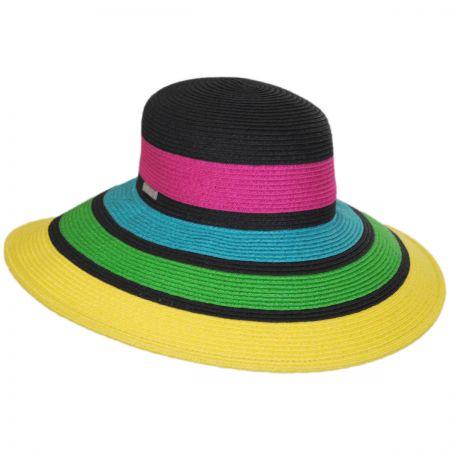 San Diego Hat Company Neon Toyo Straw Sun Hat