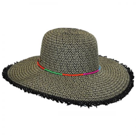 Frayed Brim Toyo Straw Floppy Hat alternate view 1