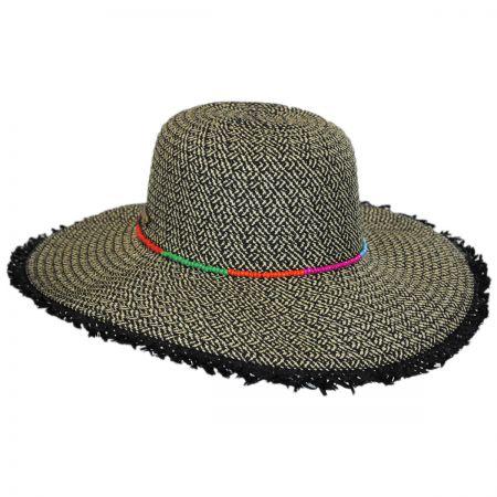 San Diego Hat Company Frayed Brim Toyo Straw Floppy Hat