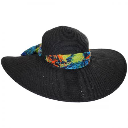Scarf Trim Toyo Straw Sun Hat alternate view 1