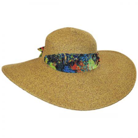 Scarf Trim Toyo Straw Sun Hat alternate view 5
