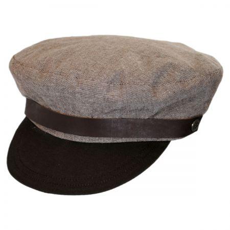Brixton Hats Kurt Linen and Cotton Fiddler Cap
