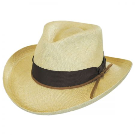 Double Down Panama Straw Fedora Hat alternate view 1