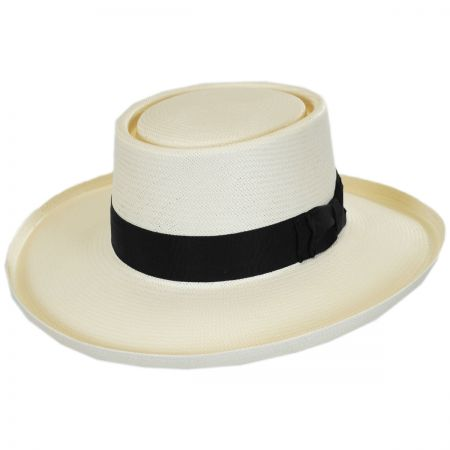 Stetson Colonel Shantung Straw Gambler Hat