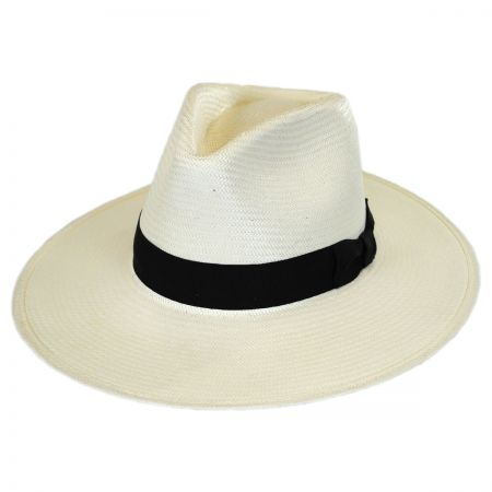 Stetson Santa Monica Shantung Straw Fedora Hat
