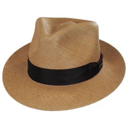 Aficionado Panama Straw Fedora Hat alternate view 1
