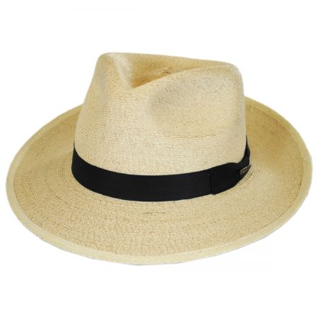 Stetson Rushmore Palm Leaf Straw Fedora Hat