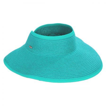 San Diego Hat Company Roll Up Toyo Straw Visor