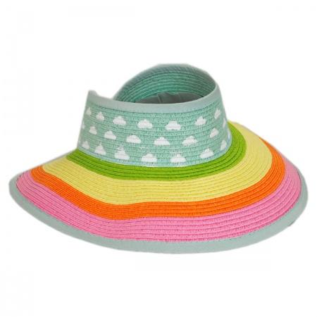 San Diego Hat Company Kids' Roll Up Toyo Straw Visor