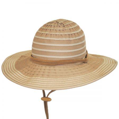 San Diego Hat Company Ribbon Floppy Chincord Sun Hat