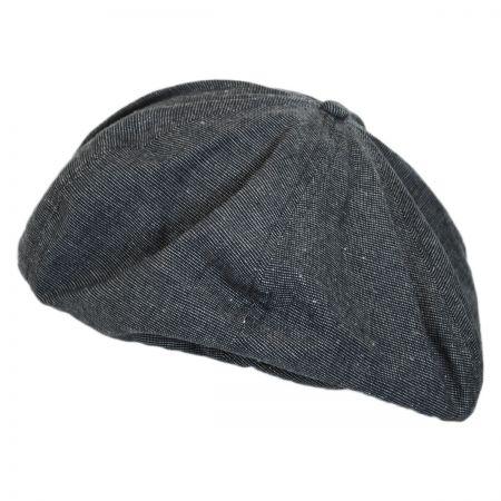 Brixton Hats Leon Linen and Cotton Beret
