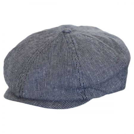 Brixton Hats - Brood Pattern Linen Newsboy Cap
