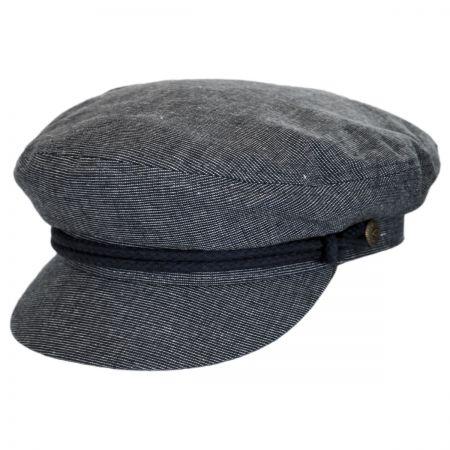 Brixton Hats Linen and Cotton Fiddler Cap